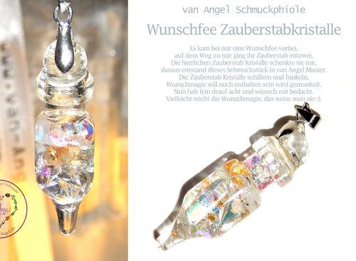 Wunschfee Zauberstab Kristalle Phiole